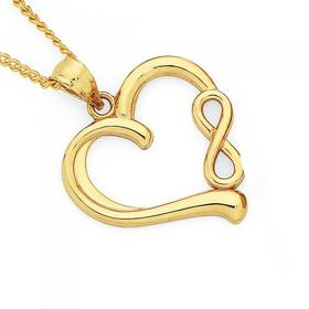 9ct-Gold-Heart-with-Infinity-Pendant on sale