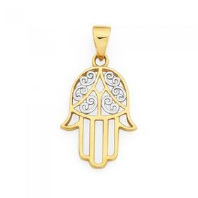 9ct-Gold-Hamsa-Hand-Pendant on sale