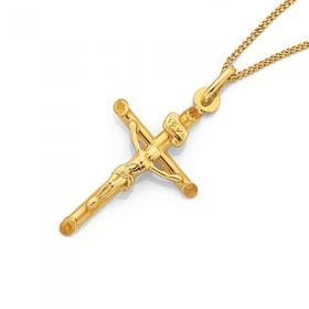 9ct-Gold-26mm-Crucifix-Pendant on sale