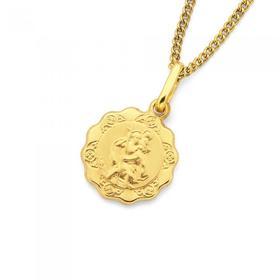 9ct-Gold-12mm-St-Christopher-Medallion-Pendant on sale