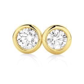 9ct-Gold-Diamond-Studs on sale