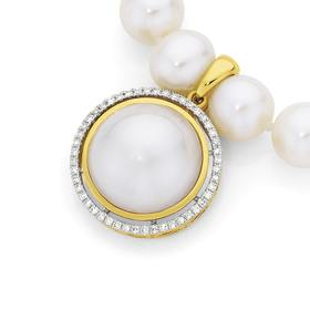 9ct-Gold-Cultured-Mabe-Pearl-Diamond-Enhancer on sale