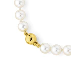 9ct-Gold-Cultured-Fresh-Water-Pearl-Necklace on sale