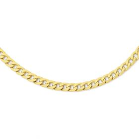 9ct-Gold-55cm-Solid-Curb-Chain on sale
