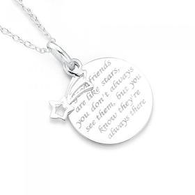 Sterling-Silver-Good-Friends-Pendant on sale