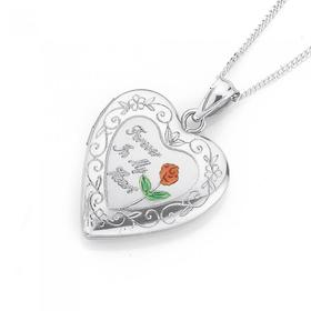 Sterling-Silver-Forever-In-My-Heart-Locket on sale