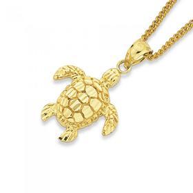 9ct-Gold-Turtle-Pendant on sale