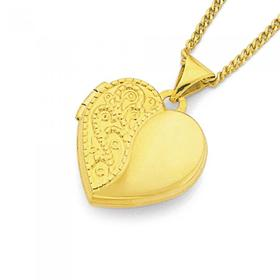 9ct-Gold-15mm-Engraved-Heart-Locket on sale