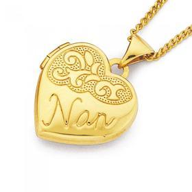 9ct-Gold-15mm-Nan-Heart-Locket on sale