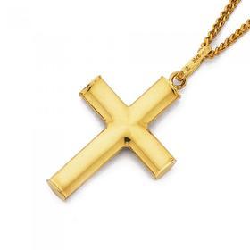 9ct-Gold-21mm-Plain-Cross-Pendant on sale