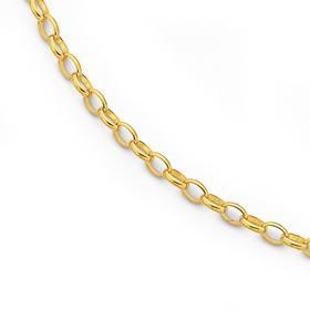 Solid-9ct-Gold-27cm-Belcher-Anklet on sale