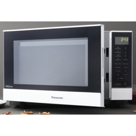27L-Flatbed-Inverter-Microwave-White on sale