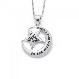 Sterling-Silver-Moon-and-Star-Message-Pendant on sale