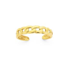 9ct-Open-Curb-Toe-Ring on sale