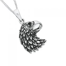 Silver-Eagle-Head-Pendant on sale