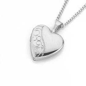 Sterling-Silver-10mm-Half-Scroll-Heart-Locket-Pendant on sale