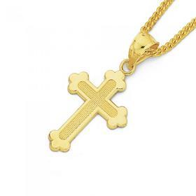 9ct-Gold-Childrens-Cross-Pendant on sale