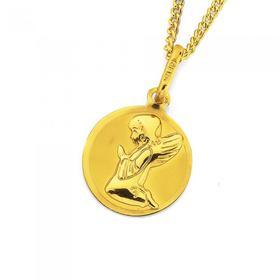 9ct-Gold-Praying-Angel-Disc-Pendant on sale