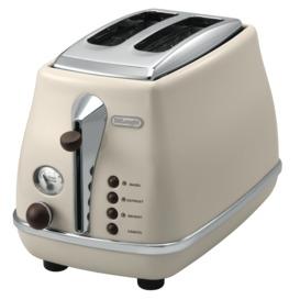 Icona-Vintage-2-Slice-Beige-Toaster on sale