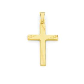 9ct-Gold-Polished-Cross-Pendant on sale