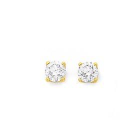 9ct-Gold-Diamond-Stud-Earrings on sale