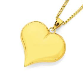 9ct-Gold-20mm-Puff-Heart-Pendant on sale