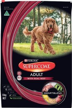 Supercoat-Dry-Dog-Food-12kg-Beef on sale