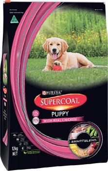 Supercoat-Dry-Dog-Puppy-Food-12kg-Chicken on sale