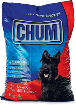 Chum-Dry-Dog-Food-15kg-Beef-Bone-Vegetable on sale