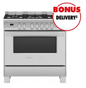 Fisher-Paykel-90cm-Dual-Fuel-Freestanding-Cooker on sale
