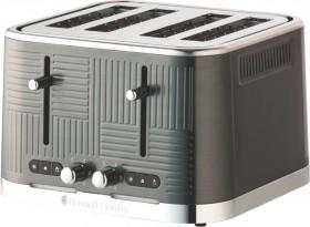 Russell-Hobbs-Geo-Steel-Toaster-Black-Stainless-Steel on sale