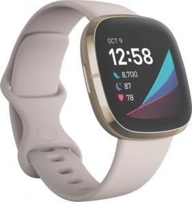 Fitbit-Sense-Lunar-WhiteSoft-Gold on sale