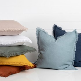 Sahara-Linen-Fringed-Cushion-by-MUSE on sale