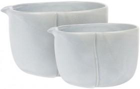 Robert-Gordon-Feast-Mixing-Bowls-Set-of-2-Concrete-35L-15L on sale