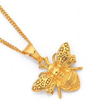 9ct-Gold-Bumble-Bee-Pendant on sale