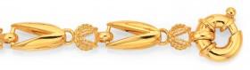 9ct-Gold-19cm-Solid-Bolt-Ring-Bracelet on sale