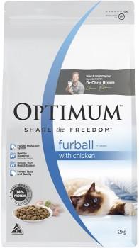Optimum-Dry-Furball-Cat-Food-2kg-Chicken on sale