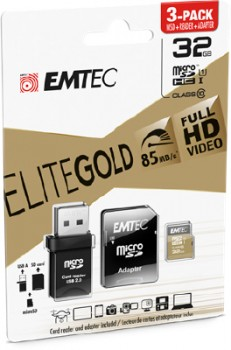 Emtec-3-Pack-Micro-SD-Card-with-USB-32GB-Gold on sale