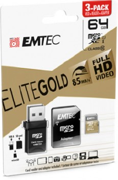 Emtec-3-Pack-Micro-SD-Card-64GB-Gold on sale