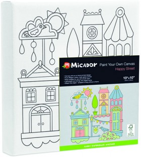 NEW-Micador-Painted-Canvas-Happy-House on sale