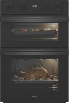 Technika-60cm-Double-Oven-Dark-Stainless on sale