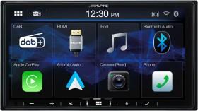 NEW-Alpine-7-180W-Av-CarPlay-Android-Auto-Dab-Rec on sale