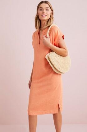 Capture-Linen-Blend-Stripe-Shift-Dress on sale