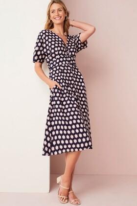 Capture-Button-Through-Midi-Dress on sale