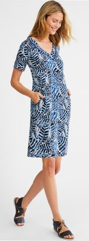 Capture-Linen-Blend-Shift-Dress on sale