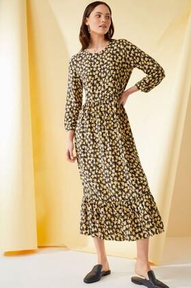 Emerge-Printed-Midi-Dress on sale