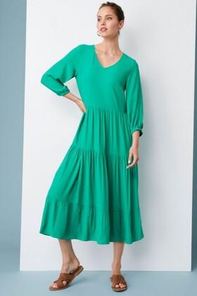 Emerge-Tiered-Midi-Dress on sale
