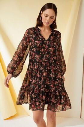 Emerge-Tiered-Chiffon-Dress on sale