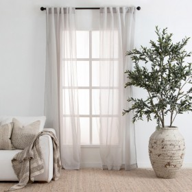 Beachley-Sheer-Silver-Curtain-Pair-by-Essentials on sale