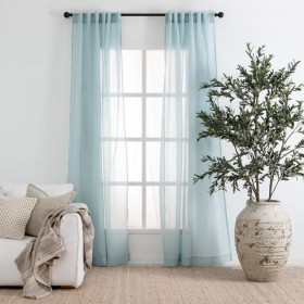 Beachley-Sheer-Seafoam-Curtain-Pair-by-Essentials on sale